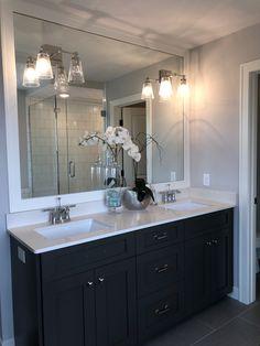 Double Vanity, Master Bath, Bathroom Lighting, Mirror, Furniture, Home Decor, Bathroom Light Fittings, Bathroom Vanity Lighting, Decoration Home