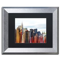 """Trademark Art """"Urban Stretch NYC III"""" by Philippe Hugonnard Framed Photographic Print Size: 11"""" H x 14"""" W x 0.5"""" D"""