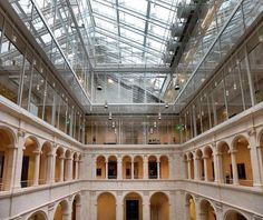 Harvard Art Museums, Cambridge, MA - Fogg courtyard