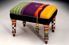 Meg Romero Studio :: Furniture For The Independent Thinker Trendy Furniture, Deco Furniture, Furniture Styles, Home Decor Furniture, Furniture Decor, Unusual Furniture, Hand Painted Furniture, Recycled Furniture, Small Footstool
