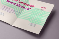 A landscape psd A4 paper mockup to showcase any of your branding designs in style. You can also change the paper...