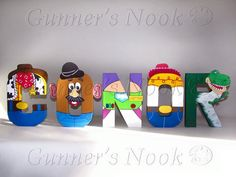 Toy Story Character Letter Art Price Per Letter by GunnersNook Toy Story Funny, Toy Story Baby, Toy Story Movie, New Toy Story, Cumple Toy Story, Festa Toy Story, Woody Birthday, Toy Story Birthday, Toy Story Toons