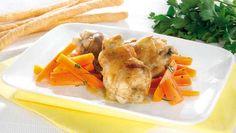 Mangiotte con salsa al Marsala e carote al burro
