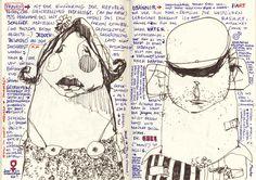 Sketch (2007) by Felix Scheinberger Travel Sketchbook, Sketchbook Pages, Collages, Beautiful Notebooks, Tinta China, Botanical Drawings, Urban Sketchers, Sketchbook Inspiration, Altered Books