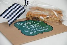 """Thanks a Latte"" gift card holder (Teacher gift)"