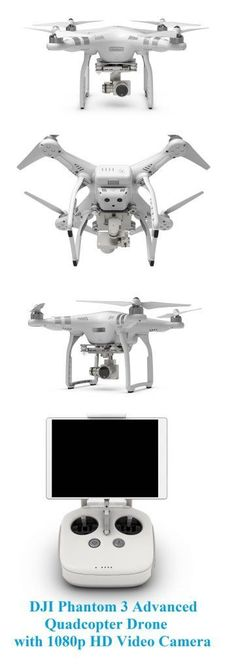 DJI Phantom 3 Advanced Quadcopter Drone with 1080p HD Video Camera #dronephotographypeople