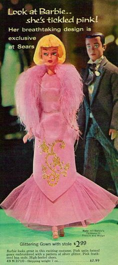 1966 Barbie American Girl, in Tickle Pink This was offered exclusively in the 1966 Sears Christmas Catalog.