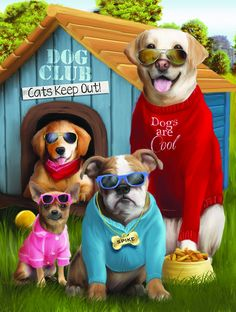 Jigsaw Puzzle - Dogs are Cool