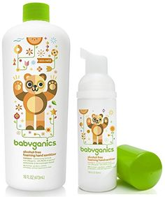 Babyganics Foaming Hand Sanitizer for OnTheGo with 16 Ounce Refill Bottle Tangerine * You can find more details by visiting the image link.