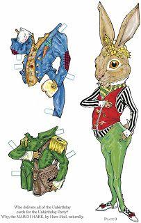 VintageFeedsacks: Free Vintage Clip Art - Alice in Wonderland Paper Dolls