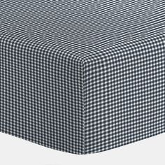 Navy Gingham Crib Sheets | Carousel Designs