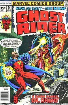 Cover for Ghost Rider (Marvel, 1973 series) #26 [30 cent cover price] October 1977