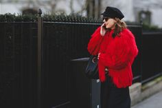 London Street Style That Just Oozes Cool #refinery29  http://www.refinery29.com/2016/02/103453/london-fashion-week-fall-winter-2016-street-style-pictures#slide-9  Trade in your beanie for a more Parisienne newsboy cap....