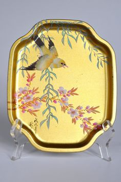 gold chinoiserie tray