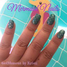 Mermaid Nails - Amalia & Chandelier #gelmoment