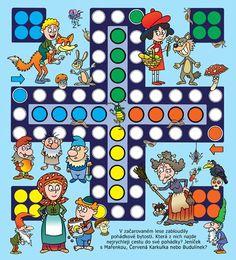 Josef Pospíchal, autor, výtvarník a ilustrátor, cartoonist… Fun Games, Games For Kids, Diy For Kids, Activities For Kids, Crafts For Kids, Board Game Template, Printable Board Games, Preschool Education, Preschool Art