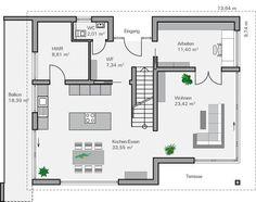 Sims 3 moderne häuser grundrisse  Fertighaus Finkenberg - Erdgeschoss | Häuser | Pinterest ...