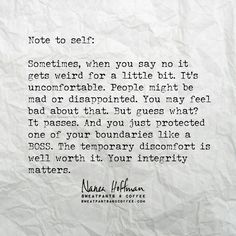 Note to self | Sweatpants and Coffee