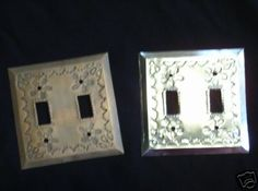 Double Punched Tin Light Switch Plate from Mexico Mexican Hacienda, Light Switch Plates, Tin, Mexico, Decor Ideas, Homes, Metal, Frame, Emboss