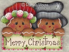 The Decorative Painting Store: Merry Christmas Ginger Couple, Newly Added Pattern Packets