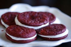 Red Velvet Whoopie Pies #easy {not from scratch}