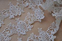 White Lace Trim, venise lace trim, vintage lace, super exquisite lace trim, retro floral lace tirm