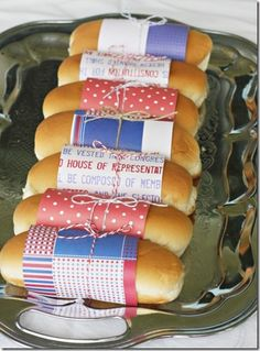 Darling idea!! Coordinate the paper to match your BBQ decor!