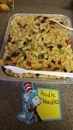 Food for Dr Seuss themed baby shower or a child's birthday party