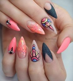 - 45 Multicolored Nail Art Ideas