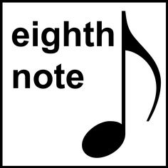 music clip art free | Clip Art: Music Notation: Eighth Note B&W