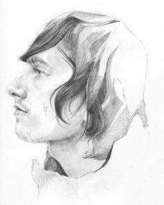 Custom Adult Portrait, Pencil Drawing via Etsy.