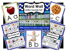 A Word Wall Letter Sounds set of posters and chart to match Barbara Milnes Letter Sounds Song.  During Writer's Workshop and Writer's Workshop as well as during guided reading groups and word work centers during the Daily 5 rotations, my students look for the letter sounds they need as they sing the catchy tune to the Letter Sounds Song.