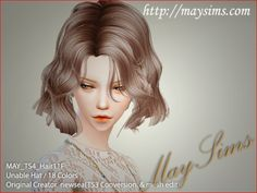 Mayims: 심즈4 헤어 (Sims 4 Hair) - May_TS4_Hair11F
