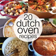 Can't wait to use my new Dutch oven! - LD 20 Dutch Oven Recipes Perfect for Your Kitchen or the Campfire! Cast Iron Dutch Oven, Cast Iron Cooking, Oven Cooking, Cooking Recipes, Cooking Ideas, Fire Cooking, Keto Recipes, Dutch Oven Camping, Dutch Oven Meals