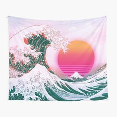 The Great Wave Off Kanagawa • Millions of unique designs by independent artists. Find your thing. Tapestry Bedroom, Wall Tapestries, Tapestry Wall Hanging, Wall Decor, Wall Art, Bedroom Decor, Retro Bedrooms, Great Wave Off Kanagawa, Thing 1