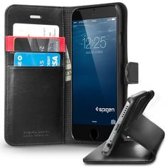 Spigen Wallet case for iPhone 6 Plus. For the best iPhone 6 and iPhone 6 Plus cases, please visit http://www.bestiphone6case.com