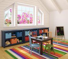 Sala de actividades infantiles, practica, linda y economica