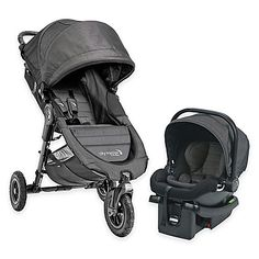 Offering travel convenience in a versatile, compact design, the Baby Jogger City Mini GT Travel System is composed of the agile, all-terrain City Mini GT stroller and the City Go infant car seat that easily installs in a vehicle with or without the base.