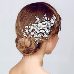 Magnificent Rhinestone/Alloy/Imitation Pearls Combs & Barrettes (042075721)  Headpieces - JJsHouse Beautiful, Classic, can match any Veil for a wedding, or can be worn to a special event to add some glamour and sparkle to your outfit. On Sale Right Now! Click to see the full collection.