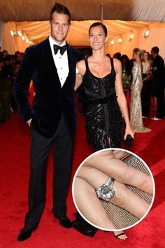 The Top 25 Celebrity Engagement Rings: Tom Brady and Gisele Bündchen's 4 carat diamond