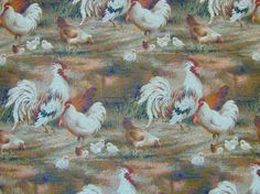 Cockeral tapestry curtain fabric