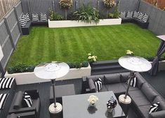 - Small garden design ideas are not simple to find. The small garden design is unique from other garden designs. Space plays an essential role in small . Back Garden Design, Modern Garden Design, Contemporary Garden, Modern Design, Backyard Seating, Backyard Patio Designs, Back Garden Landscaping, Landscaping Design, Minimalist Garden