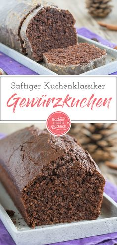 Saftiger Gewürzkuchen ist ein beliebter Kuchenklassiker für die kalte Jahresze… Juicy spice cake is a popular cake classic for the cold season. This simple spice cake is wonderfully juicy and aromatic with ground almonds and dark chocolate. Banana Recipes, Easy Cake Recipes, Cookie Recipes, Dessert Recipes, Fall Desserts, Christmas Desserts, Christmas Baking, Chocolate Desserts, Chocolate Cake