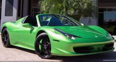 Someone Paid $27k To Have His Ferrari 488 Spider Painted This Shade Of Green [50 Pics]