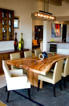 awesome slab wood table