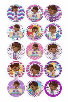 Dra juguetes Double Birthday Parties, Birthday Wishes For Kids, Ballerina Birthday Parties, Frozen Birthday Party, Mom Birthday Gift, Birthday Ideas, Imprimibles Toy Story, Doc Mcstuffins Birthday Party, Bottle Cap Crafts