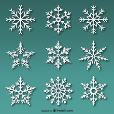 Pacote de flocos de neve brancos