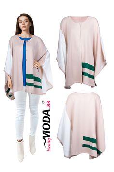 Elegantná pletená dámska pelerína v atraktívnej farebnej kombinácii Kimono Top, Blouse, Long Sleeve, Sleeves, Women, Fashion, Moda, Women's, La Mode