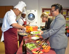 Faculty and staff members are being treated to a more upscale lunch two days a week at Freedom High School's new Bistro Cafe.  One of the Wo...