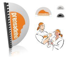 Desenvolvimentto de logotipo, cardápio e proposta para uniforme. Logotipo inspirado no lanche principal do estabelecimento.